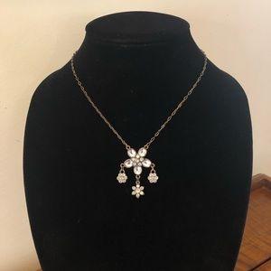 Jewelry - 5/$25 MONET Glass Cabochon Flower Antique Necklace